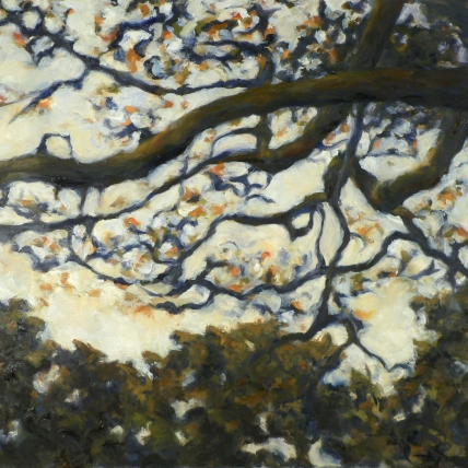 branches, 2009; oil on canvas; 4'x3'