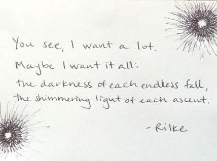"""You see..."" by Rilke || Illustration by Bonnie Veblen"