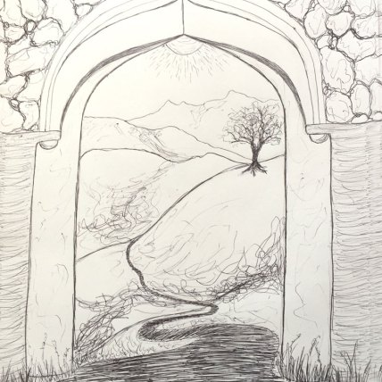 """I put my trust..."" by Elizabeth Gilbert || Illustration by Bonnie Veblen"
