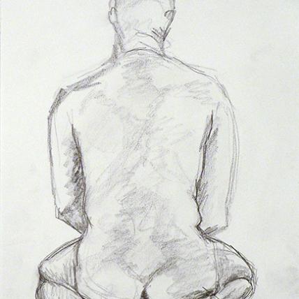 "figure study || 2009 || graphite on paper || 9 x 11"""