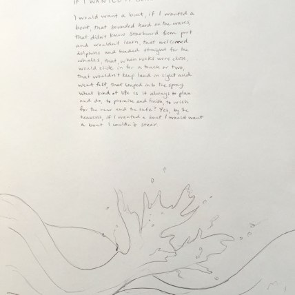 """""""If I Wanted A Boat"""" by Mary Oliver 