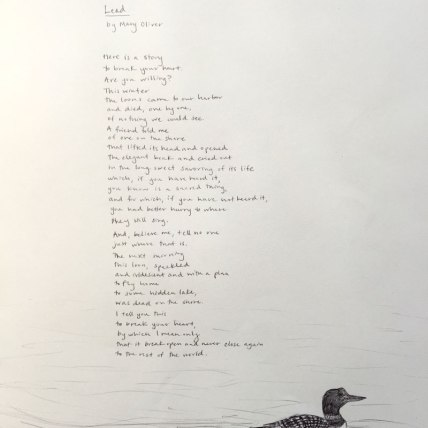 """""""Lead"""" by Mary Oliver 