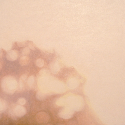"no thing (7), 2008; oil on board; 9 3/4"" x 9 3/4"""