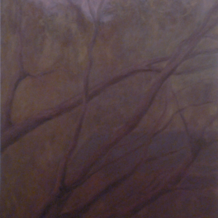 down to a whisper, then the dark // 2009 // oil on canvas // 36 x 48""