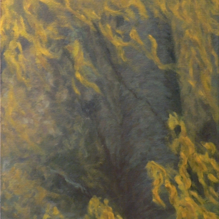 and the wind lifting, pulling, rising, rising; 2009; oil on canvas; 11 x 14""