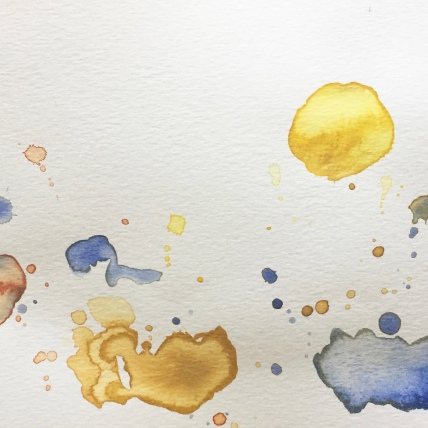 """study"", watercolor on paper, 2018, 8""x6"""